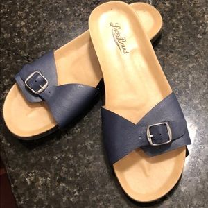 Lucky Brand Slip Ons Navy Size 8
